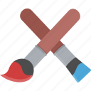brushes, paint icon