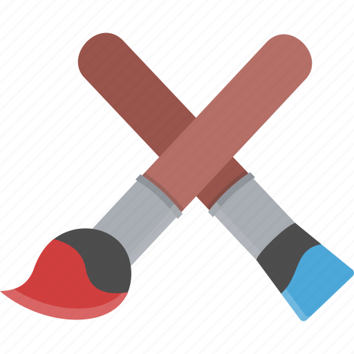 brush, brushes, color, paint, paint brushes icon
