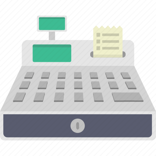 cash register, checkout, purchase, register icon
