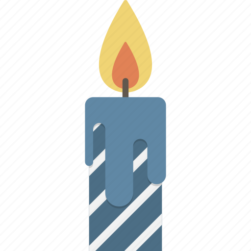 birthday, candle, lit icon