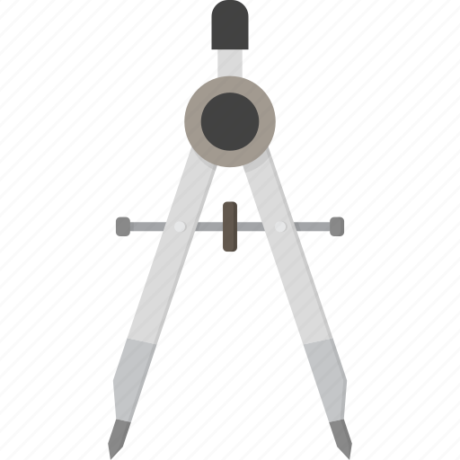 compass, drawing, tool icon