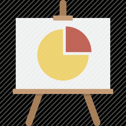 analytics, business, easel, marketing, presentation, seo, statistics icon