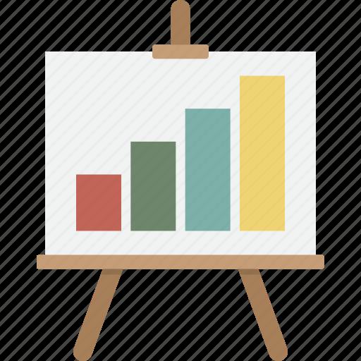 analytics, business, easel, growth, presentation, seo, statistics icon