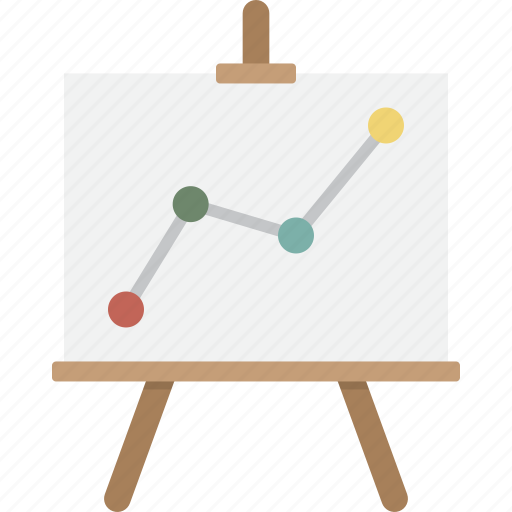 analytics, business, easel, growth, presentation, seo, statistics icon