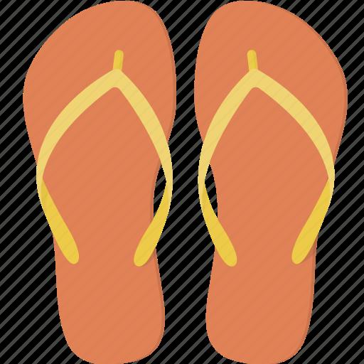 flip, flops, vacation icon