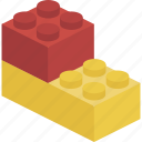 block, brick, building blocks, toy brick icon