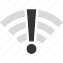 disconnected, error, network, signal, wifi, wireless icon