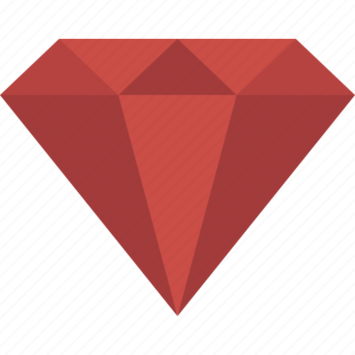 Diamond, gem, gemstone, jewel, red, ruby icon - Download on Iconfinder