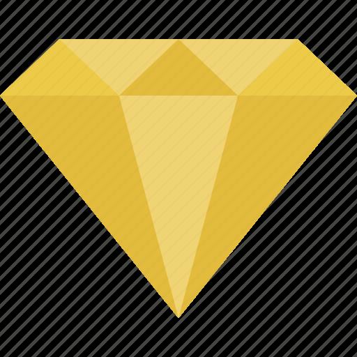 citrine, diamond, gem, gemstone, jewel, yellow icon