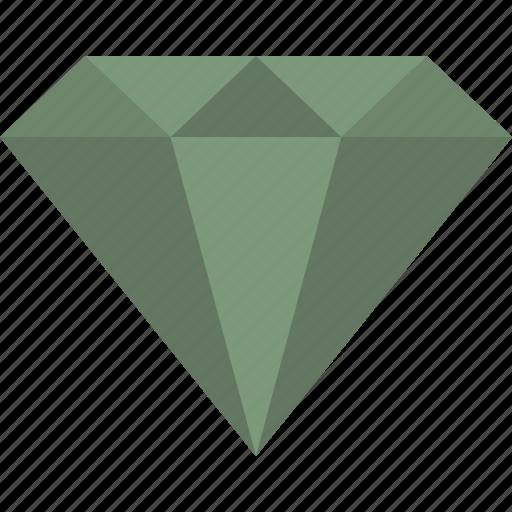 Diamond, emerald, gem, gemstone, green, jewel icon - Download on Iconfinder
