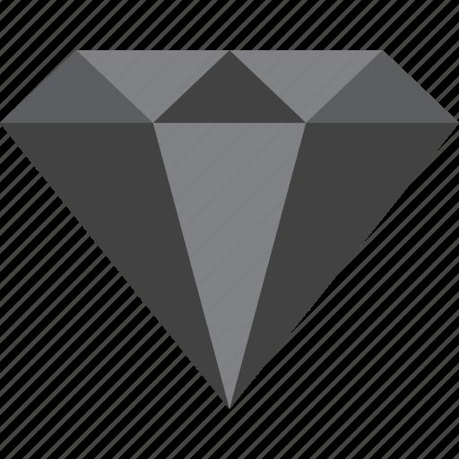 black diamond, diamond, gem, gemstone, jewel icon