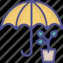 garden safety, safety, insurance, pot, umbrella