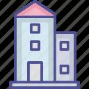 apartments, building, city building, flats, editable