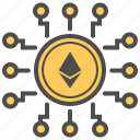 blockchain, crypto, crytocurrency, ethereum, mining icon