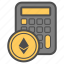 account, calc, crytocurrency, ethereum icon
