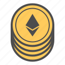 bitcoin, coin, coins, crytocurrency, ethereum icon