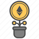 bitcoin, crytocurrency, ethereum, invest, money icon