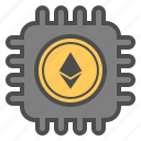 blockchain, cryptocurrency, ethereum, mining icon