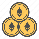 coin, coins, cryptocurrency, ethereum icon