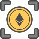 coin, cryptocurrency, ethereum, money icon