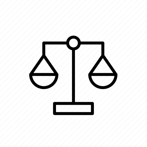 balance, justice, law, scale, weigh icon