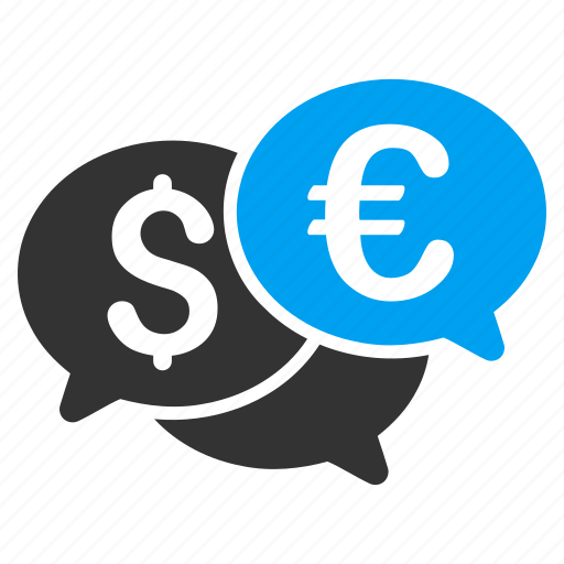 chat, communication, currency bids, dialog, finance, messages, money transaction icon