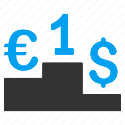 competition, currency rate, financial, money, rating, success, winner icon