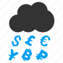 dollar, finance, financial, money grant, profit, rain, success icon