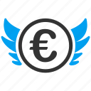 angel investor, euro, finance, invest, investment, money, venture capital icon