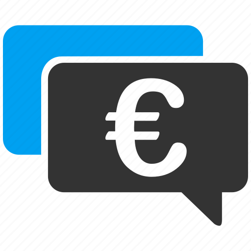 banking transactions, business, chat, communication, euro finance, messages, money icon