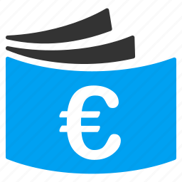 bills, check, checkbook, cheque book, euro, finance, payment icon