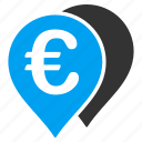 euro pointers, flag, gps, map markers, navigation, pin, travel route icon