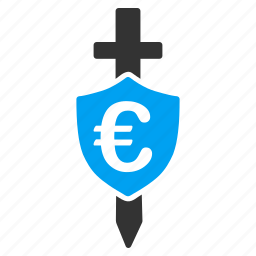 business, euro shield, financial police, guard price, money, protection, security icon