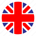 country, europe, flag, nation, round, uk, united kingdom icon