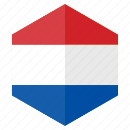 country, design, europe, flag, hexagon, netherland icon