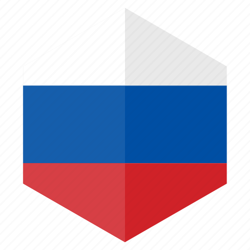 country, design, europe, flag, hexagon, russia icon