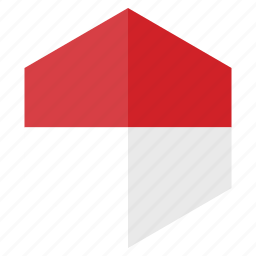 country, design, europe, flag, hexagon, monaco icon