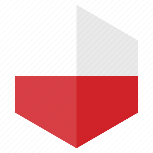 country, design, europe, flag, hexagon, poland icon