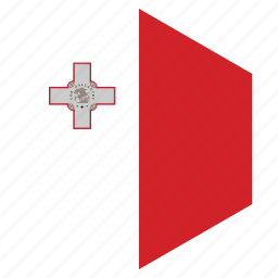 country, design, europe, flag, hexagon, malta icon