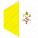 country, design, europe, flag, hexagon, vatican city icon