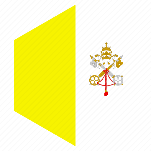 country, design, europe, flag, hexagon, vatican city icon