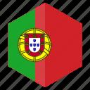 country, design, europe, flag, hexagon, portugal