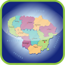 country, europa, europe, lithuania, map, maps icon