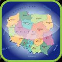 county, europa, europe, map, maps, poland icon