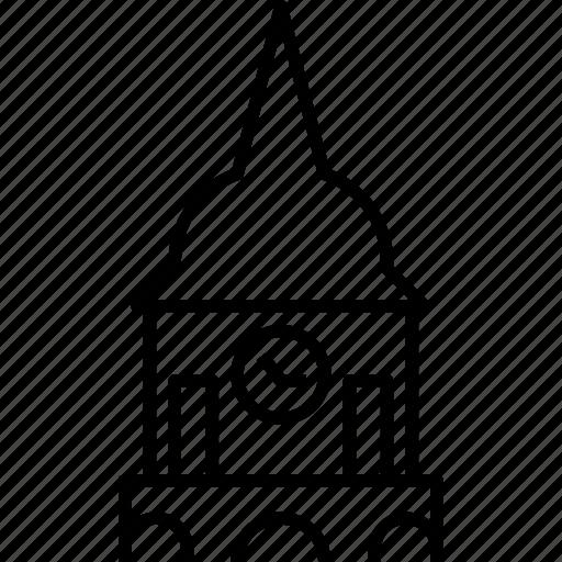 clock tower, landmark, lithuania, vilnius icon