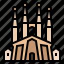 barcelona, european, landmark, spain, temple expiatori de la sagrada familia