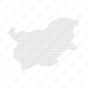 bulgaria, country, dashboard, data, dotted, europe, map