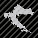country, croatia, dashboard, data, dotted, europe, map