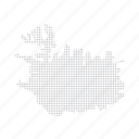 country, dashboard, data, dotted, europe, iceland, map icon