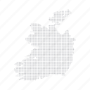 country, dashboard, data, dotted, europe, ireland, map